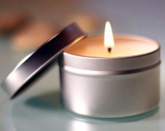 Tin Candle Favors 6oz *Minimum of 30 candles per order*