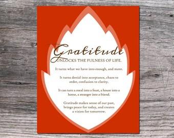 "Gratitude 8x10"" digital download and printable"
