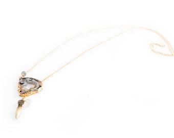 SALE**   Geode Lariat Necklace (was 280.00)