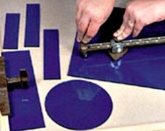 Glastar Strip and Circle Cutter for Stained Glass and to Cut Repetitive Straight Lines