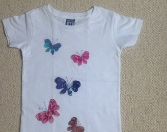 Girls applique Butterfly T-shirt - 2-3 years