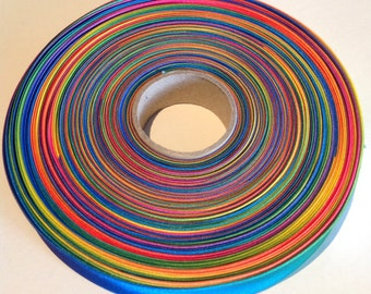 Rainbow Bias Binding - 20mm