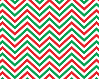 Red green and white chevron craft  vinyl sheet - HTV or Adhesive Vinyl -  zig zag pattern Christmas colors HTV153