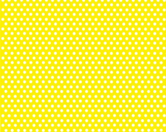 Yellow with white mini polka dots craft  vinyl sheet - HTV or Adhesive Vinyl -  polka dot pattern HTV2300