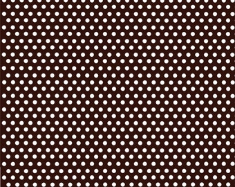 Dark brown with white mini polka dots craft  vinyl sheet - HTV or Adhesive Vinyl -  polka dot pattern HTV2322
