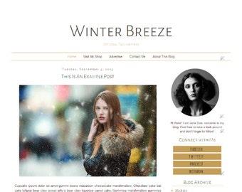 Fashion Blogger Template - Simple Clean Minimalist Modern Blog Design - Blog Layout - Blog Theme