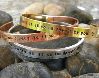 Song Lyric Bracelet - How sweet it is to be loved by you