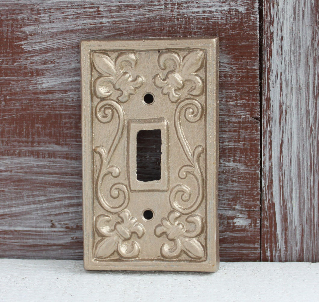 Light Switch Plate Cover: Light Switch Cover Antique Gold Light Switch Plate