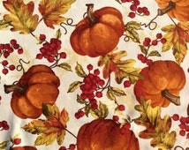 Fall Harvest Fabric with Pumpkins and Leaves by Timeless Treasures | cotton fabric by the yard | sewing fabric | Autumn fabric