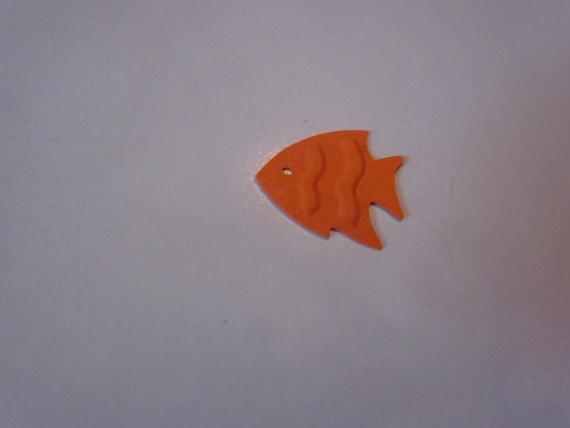 Tiny Embossed Fish Die Cuts