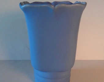 Beautiful Vintage ~ Periwinkle Blue Matte Finish ~ Vase