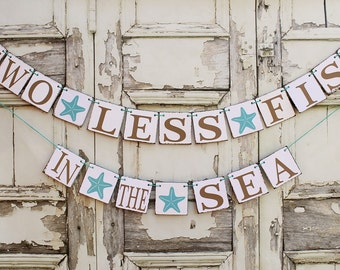 beach wedding signs engaged banners 2 less fish starfish engagement decorations