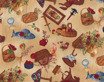 """Quilt Fabric -""""Country Home"""" - Home Decorations - By Anna Krajewski for SSI - BTHY"""