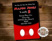 MICKEY MOUSE Birthday Invitation, Printable Mickey Mouse Invitation, Personalized, Printable, Diy, Pink Frosting Paperie