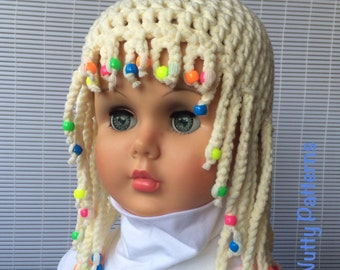 Free Crochet Baby Wig Hat Pattern : Popular items for girls wig on Etsy
