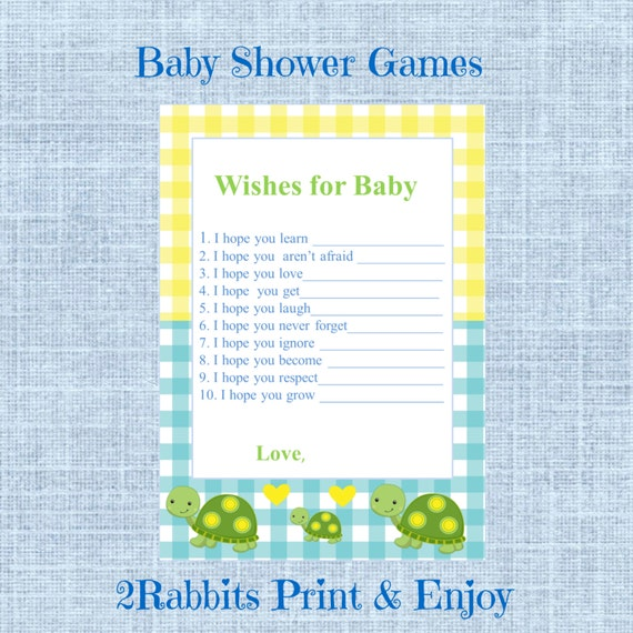 Turtle Boy Baby Shower Wishes For Baby Cards Printable Baby