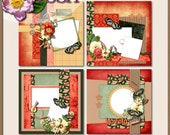 Digital Scrapbook: Just Watch Me Quick Page Set 2  8 inch Layouts