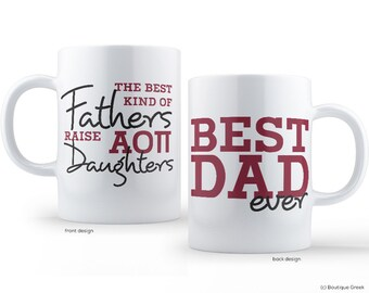 AOII Alpha Omicron Pi Best Dad Mug Sorority Father Mug