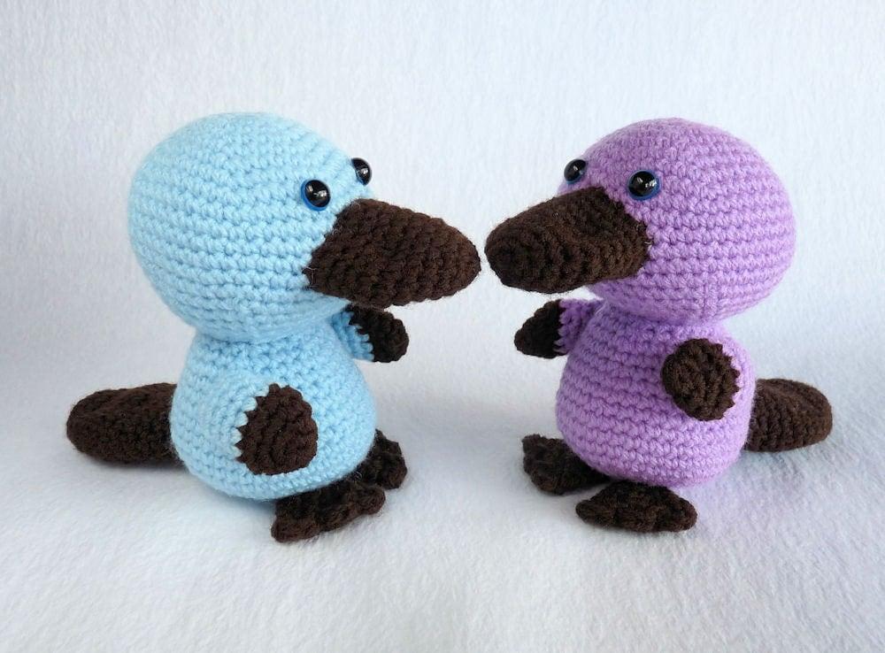 Amigurumi Yarn Australia : Amigurumi Platypus Australian Animal Toy Plush Toy Platypus