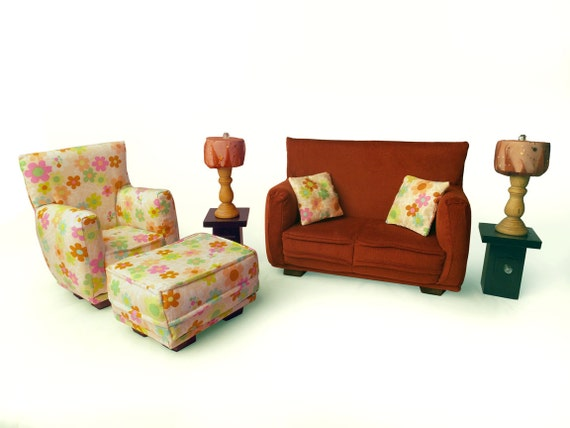 barbie living room furniture doll living room furniture 9 pc play set 1 6 13787