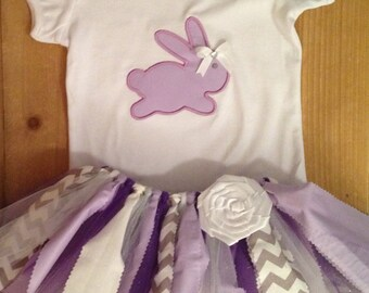 Purple Easter Bunny Tutu Outfit