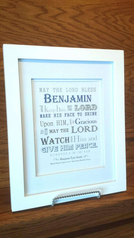 Baby Boy Baptism Gift Christening Gift Personalized
