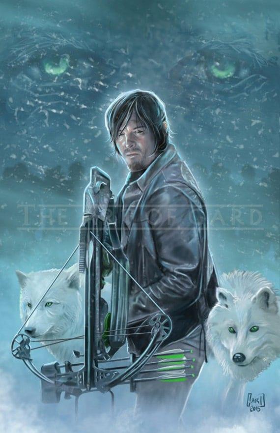 """Daryl Dixon Digital Print - """"DEAD WINTER"""" (11X17 Artist's Print)"""