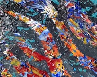 Untitled - 11x14 acrylic on canvas