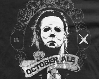 Meyers October Ale tshirt Halloween beer drinking shirt