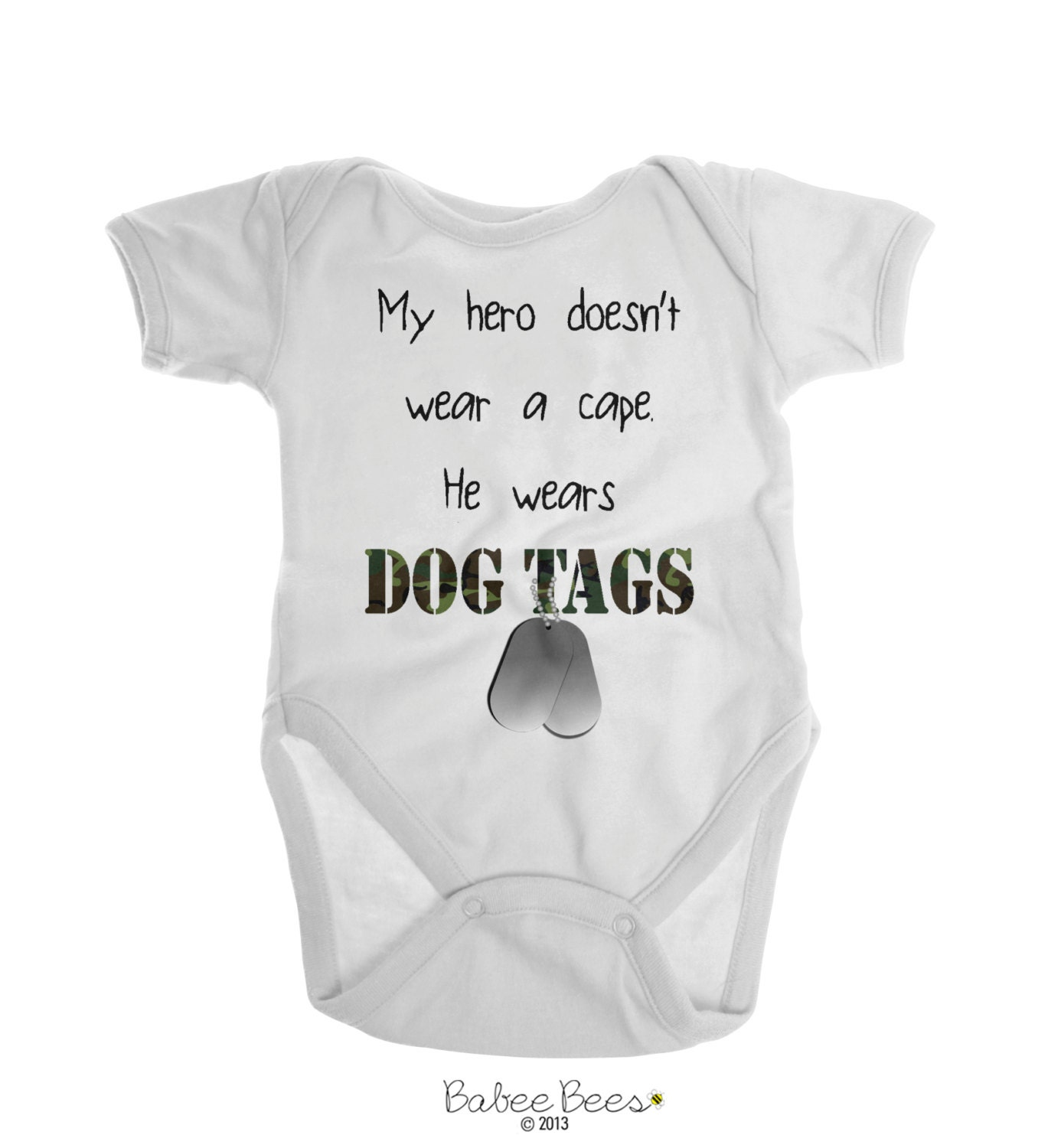 my hero wears dog tags army baby clothes army baby boy by emeejoco