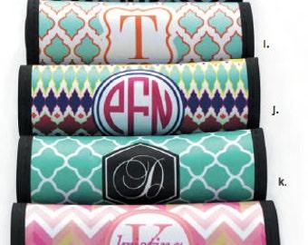 Monogrammed Luggage Handle Wraps