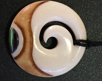 Sea Stone Spiral Necklace