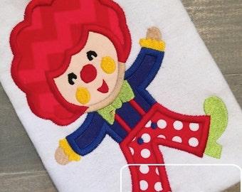 Clown Applique Design