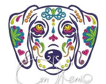 MACHINE EMBROIDERY DESIGN - Calavera Begal dog, Dia de los muertos, Mexican design, Halloween design, calavera dog, Day of the dead