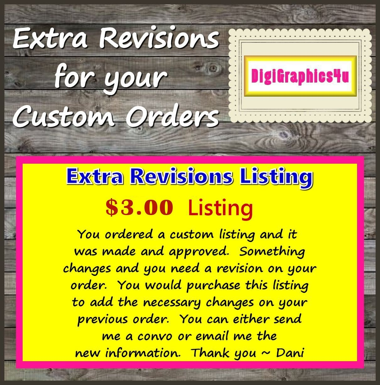 Custom writings revisions