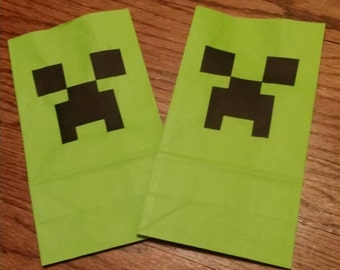 Creeper Video Game Party/Goodie Bags