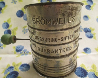 Vintage Bromwell's Three Cup Sifter