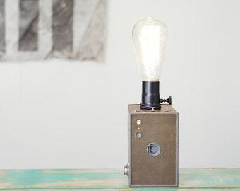 Vintage Camera Table Lamp