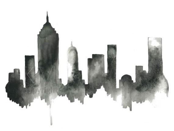 new york city mural wallpaper black and white