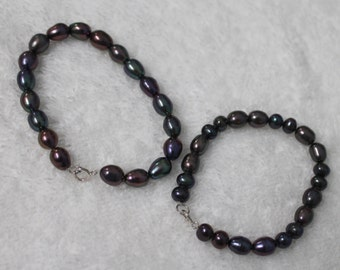 BR54 Dark Freshwater Pearl Bracelets