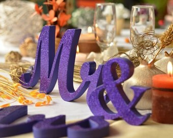 glitter mr. & mrs. wedding signs for sweetheart table,engagement ,phototography ,prop photo prop ,sweetheart table ,MR MRS,Table sign
