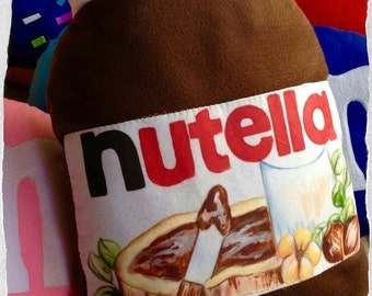 45 x 30 cm nutella shaped pillow handmade