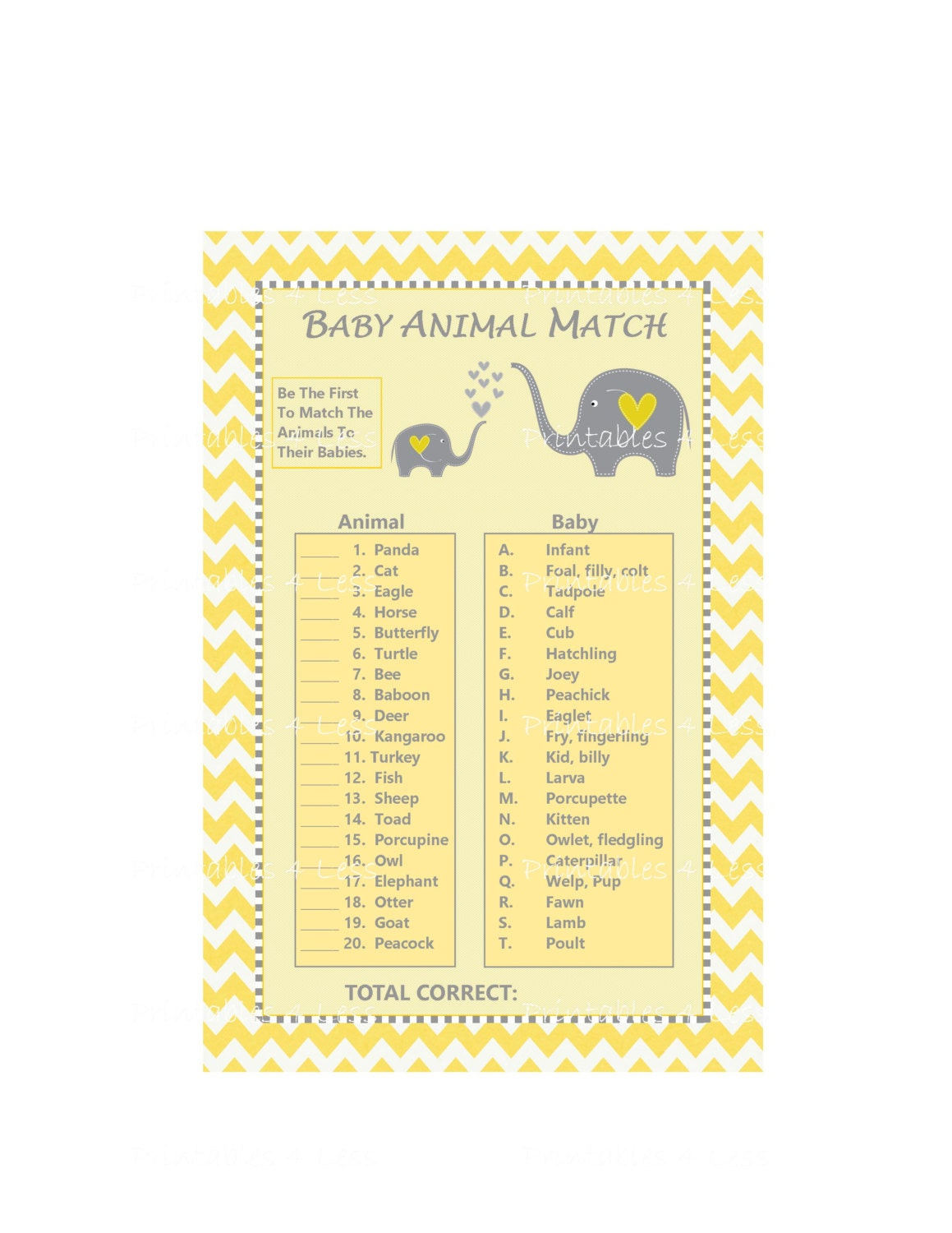 Delicate image inside baby animal match game printable