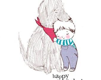 Happy Birthday... Rosie & Radish SCRUFF Cuddle Greeting Card
