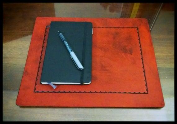 Laptop Pad - Desk Pad - in Full Grain Leather
