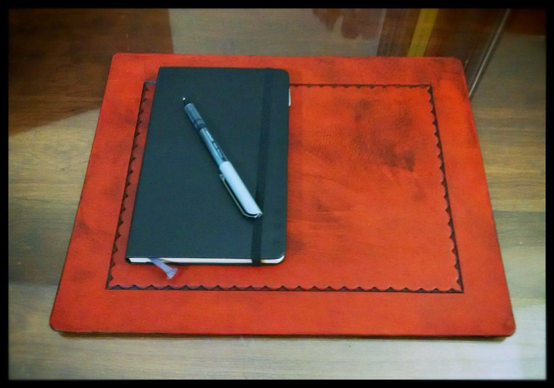 Laptop Pad Desk Pad In Full Grain Leather