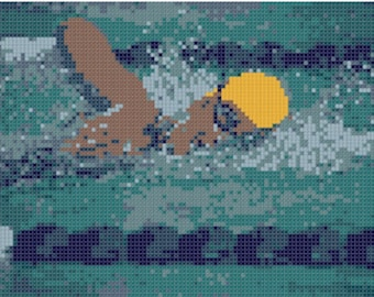 Swimming Cross Stitch Pattern