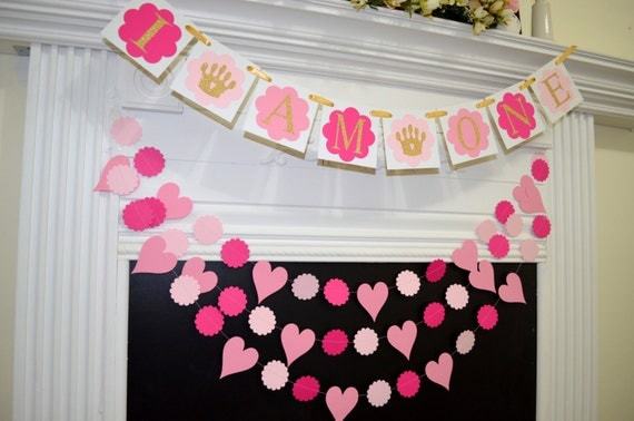 I am one banner and garland set 1st birthday banner for Welcome home decorations ideas
