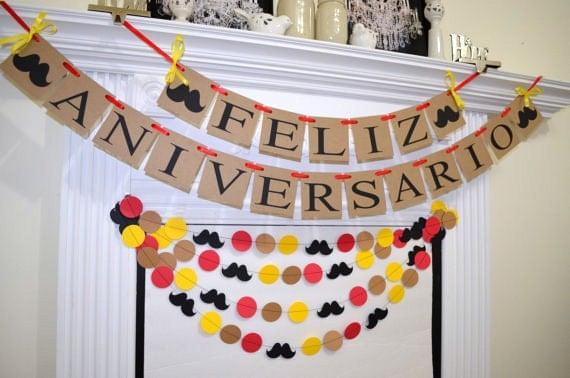 Banner Feliz Aniversario: Feliz Aniversario Portuguese Happy Anniversary Banner