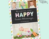 Personalized Photo Easter Greeting Card - Digital File You Print